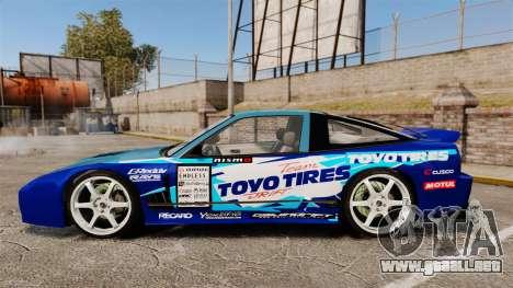 Mazda RX-7 Kawabata Toyo para GTA 4 left