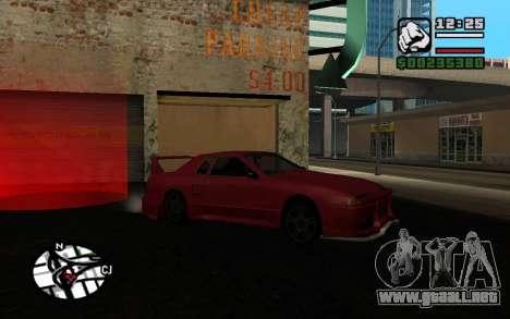 Tuning Mod 0.9 para GTA San Andreas quinta pantalla