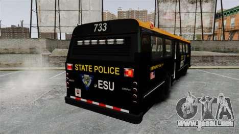 Brute Bus ESU [ELS] para GTA 4 Vista posterior izquierda