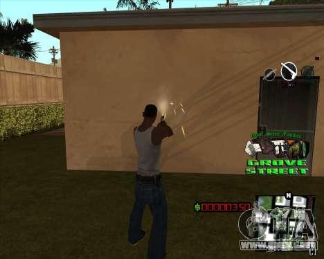C-HUD West Side Grove Street para GTA San Andreas segunda pantalla