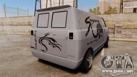 Burrito Bodybuilder para GTA 4 Vista posterior izquierda