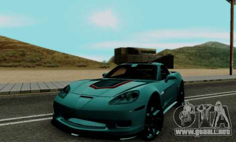 Chevrolet Corvette Grand Sport 2010 para GTA San Andreas left