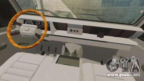 Land Rover Defender tecnovia [ELS] para GTA 4 vista hacia atrás