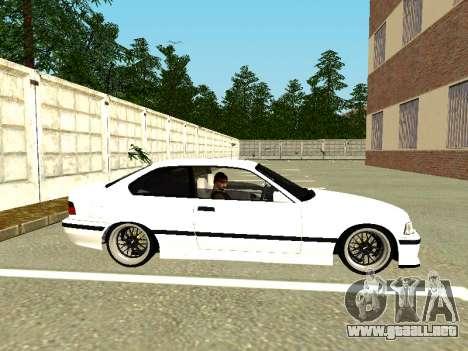 BMW M3 E36 Coupe para GTA San Andreas vista posterior izquierda