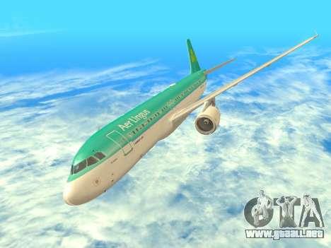 Airbus A320-200 Aer Lingus para la vista superior GTA San Andreas