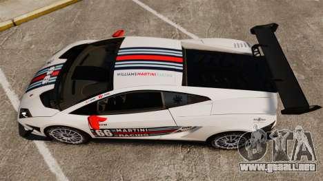 Lamborghini Gallardo LP570-4 Martini Raging para GTA 4 visión correcta