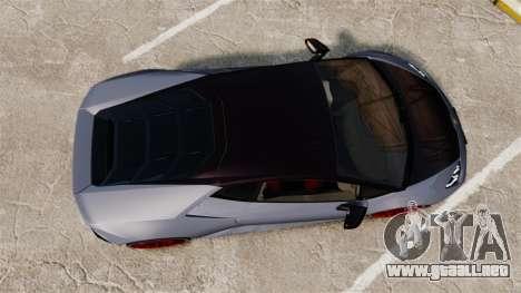 Lamborghini Huracan 2014 para GTA 4 visión correcta