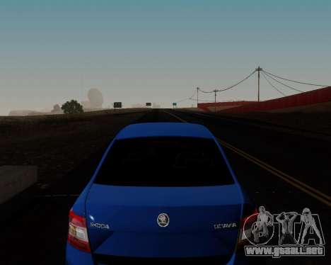 Skoda Octavia A7 para vista inferior GTA San Andreas