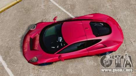 Jaguar C-X75 [EPM] para GTA 4 visión correcta
