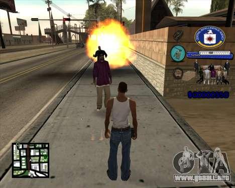 C-HUD C.I.A para GTA San Andreas tercera pantalla