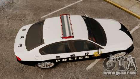 BMW 350i Japanese Police [ELS] para GTA 4 visión correcta