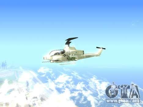 AH-1W Super Cobra para GTA San Andreas vista posterior izquierda