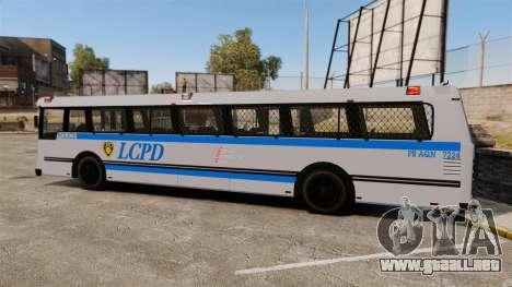 Brute Bus LCPD [ELS] para GTA 4 left