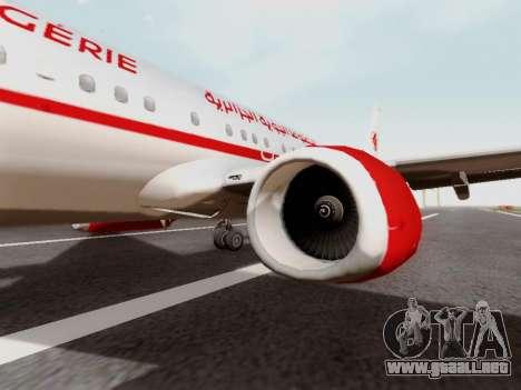 Boeing 737-800 Air Algerie para GTA San Andreas vista hacia atrás