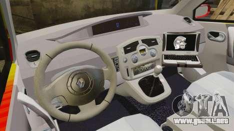 Renault Scenic Medicin v2.0 [ELS] para GTA 4 vista hacia atrás