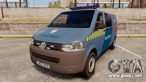 Volkswagen Transporter T5 Hungarian Police [ELS] para GTA 4