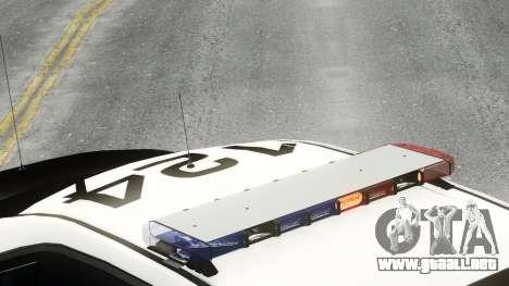Ford Police Interceptor LCPD 2013 [ELS] para GTA 4 Vista posterior izquierda