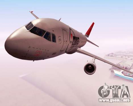 Airbus A320 NWA para visión interna GTA San Andreas