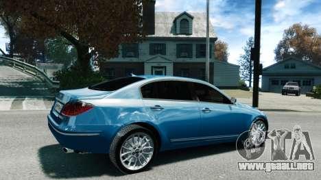 Hyundai Genesis V6 Sedan para GTA 4 left