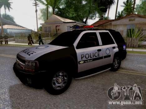 Chevrolet TrailBlazer Police para vista lateral GTA San Andreas