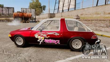 AMC Pacer 1977 v2.1 Miku para GTA 4 left