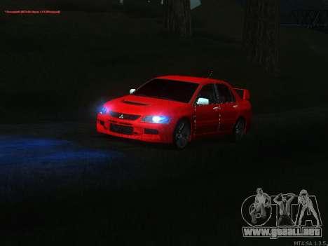 Mitsubishi Lancer Evo VIII para visión interna GTA San Andreas
