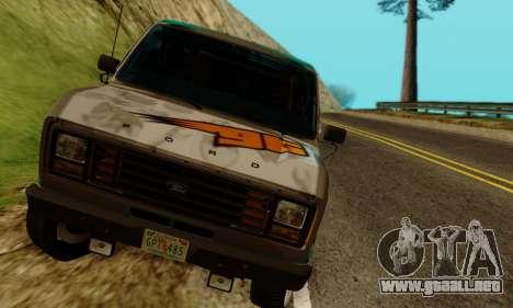 Ford E-150 GT-Shop para GTA San Andreas vista hacia atrás