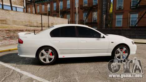 Ford Falcon XR8 Police Unmarked [ELS] para GTA 4 left