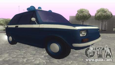 Fiat 126p milicja para GTA San Andreas vista posterior izquierda