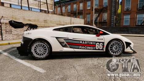 Lamborghini Gallardo LP570-4 Martini Raging para GTA 4 left