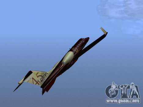 Bombardier Learjet 45 para la vista superior GTA San Andreas