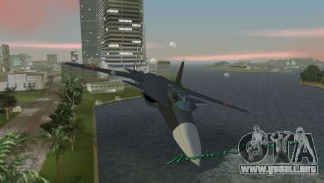 Su-47 Berkut para GTA Vice City vista interior