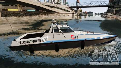 Predator U.S. Coast Guard para GTA 4 left