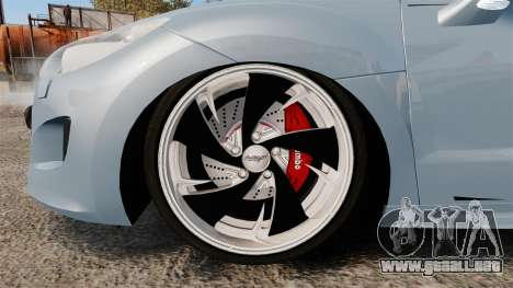 Peugeot RCZ para GTA 4 vista hacia atrás