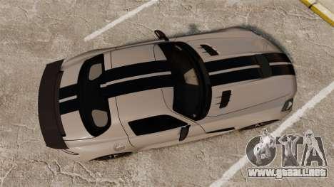 Mercedes-Benz SLS 2014 AMG NFS Stripes para GTA 4 visión correcta