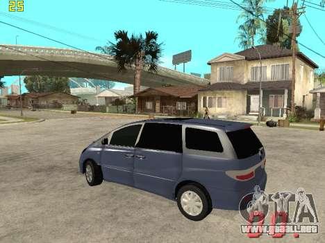 Toyota Estima KZ Edition 4wd para GTA San Andreas vista posterior izquierda