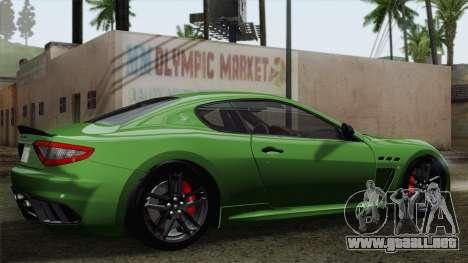 Maserati GranTurismo MC Stradale para vista lateral GTA San Andreas