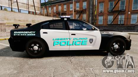 Dodge Charger 2011 Liberty Clinic Police [ELS] para GTA 4 left