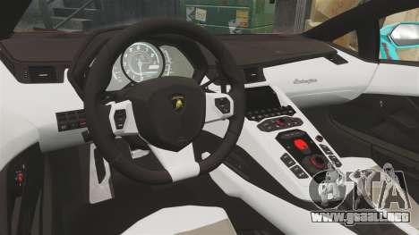 Lamborghini Aventador LP700-4 2012 [EPM] Miku para GTA 4 vista lateral