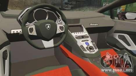 Lamborghini Huracan 2014 para GTA 4 vista interior