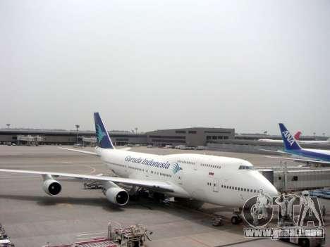 Boeing 747-400 Garuda Indonesia para vista lateral GTA San Andreas