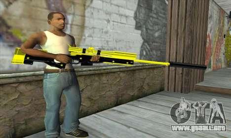 Yellow Sniper Rifle para GTA San Andreas tercera pantalla