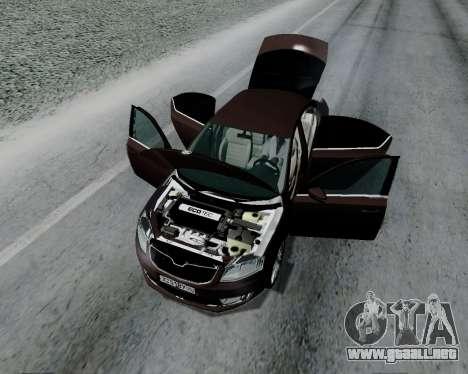 Skoda Octavia A7 para GTA San Andreas vista hacia atrás