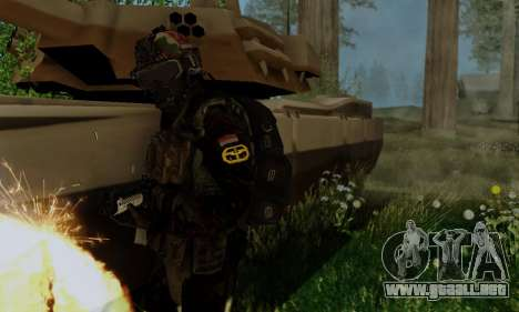 Kopassus Skin 2 para GTA San Andreas sucesivamente de pantalla