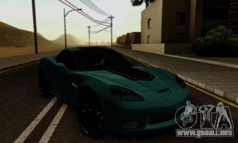 Chevrolet Corvette Grand Sport 2010 para visión interna GTA San Andreas