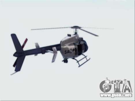 Bell 407 SAPD para GTA San Andreas left