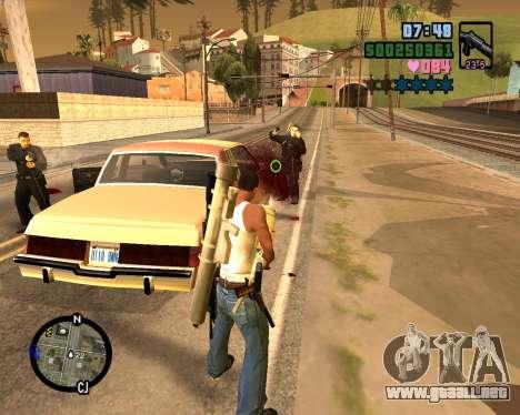 C-HUD Vice Sity para GTA San Andreas quinta pantalla