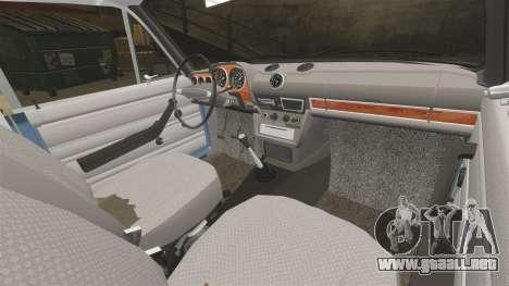 VAZ-2106 Zhiguli BUNKER para GTA 4 vista interior