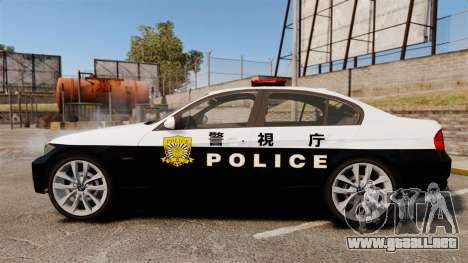 BMW 350i Japanese Police [ELS] para GTA 4 left