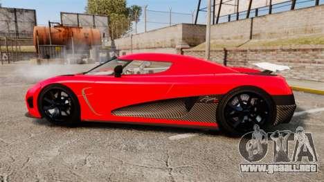 Koenigsegg Agera R [EPM] NFS para GTA 4 left